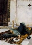 Waterhouse, John William: Dolce Far Niente. Fine Art Print/Poster. Sizes: A4/A3/A2/A1 (003467)